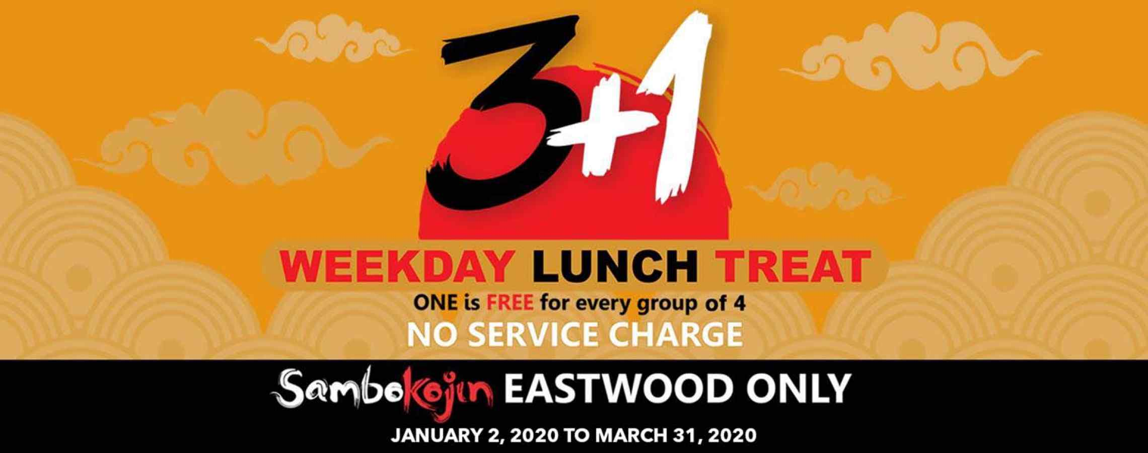 3+1 WEEKDAY LUNCH TREAT