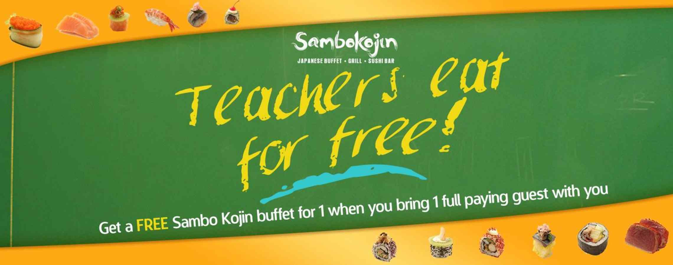 Teachers Eat For Free!