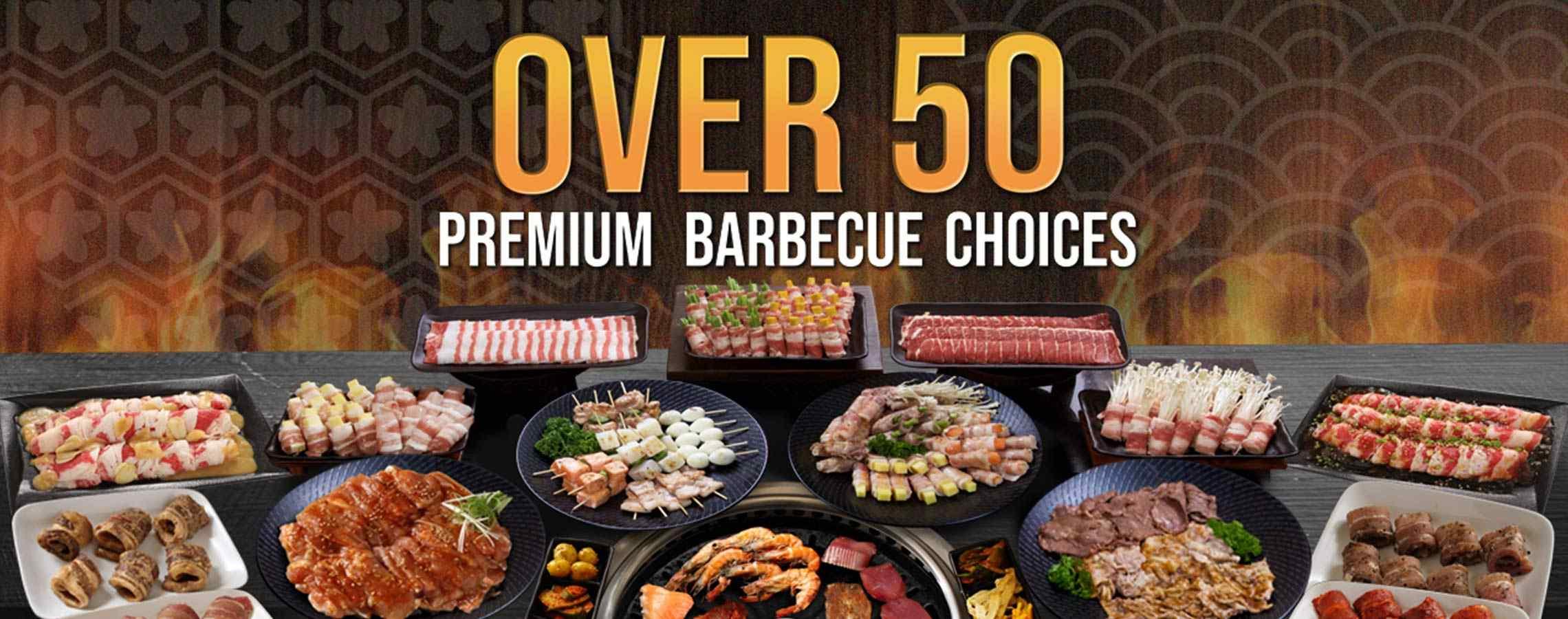 Over 50 Premium Barbecue Choices